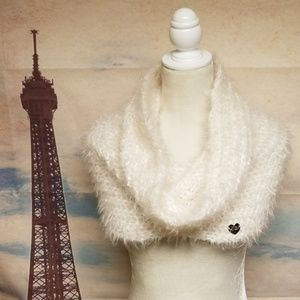 Betsey Johnson fuzzy infinity scarf